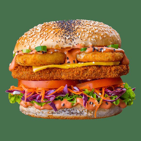 Crispy Burger - Lekker Vegan